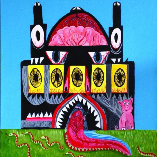 'Black Temple' 50cm x 50cm, 2014