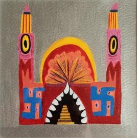 Journeys Through Jinnistan, Acrylic on paper, 2015